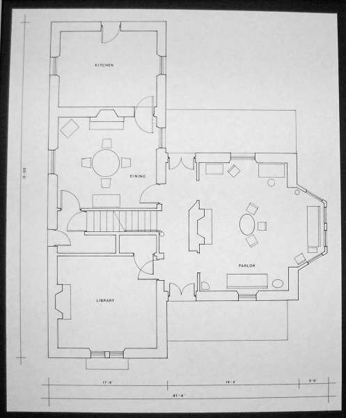 Plans for first floor of house