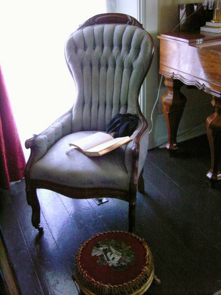 Reading chair in parlor owned by Matilda McAllister