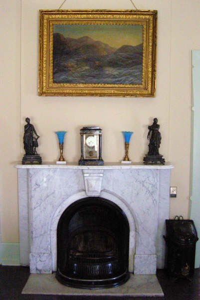 Original marble fireplace from Philadelphia