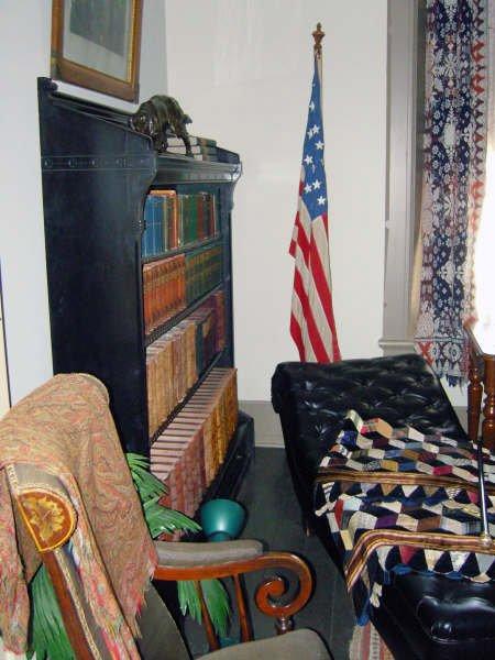 Library was originally master bedroom