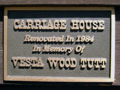 Historical Sign for Carriage House