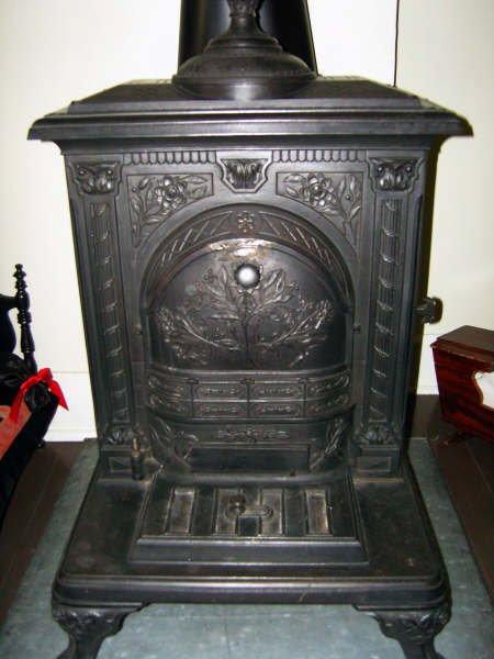 Coal stove in children\'s bedroom