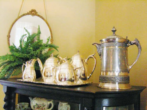 One of several tea and coffee sets in Museum