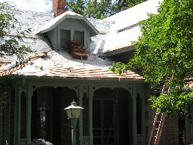 McAllister House Museum new roof in progress