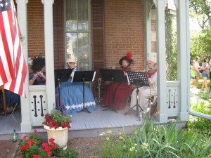 Flutes on the front porch
