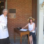 Curator, Owanah Wick with Julie Green on the front porch