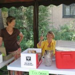 Bev Payne and Nancy May ready to sell nickel ice cream
