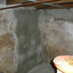 Gaping hole is repaired and plastered