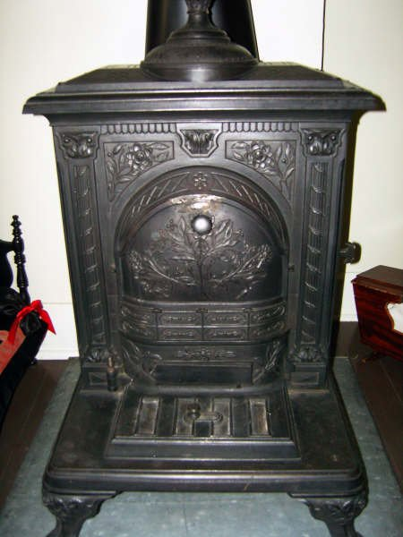 Coal stove in children\'s bedroom