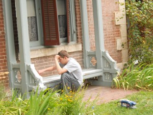 repainting the front bench